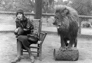 Greta Garbo and the MGM lion